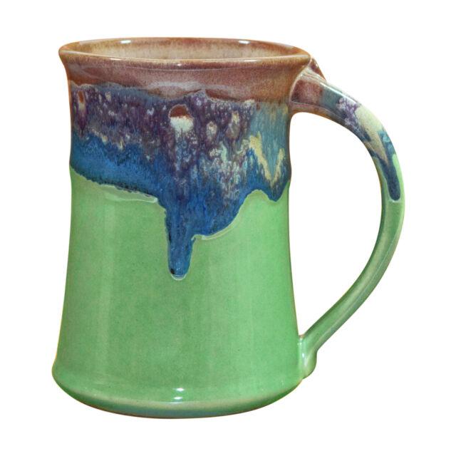 Clay in Motion Handmade Ceramic Large Mug Coffee Cup 20 oz - Mountain Meadows