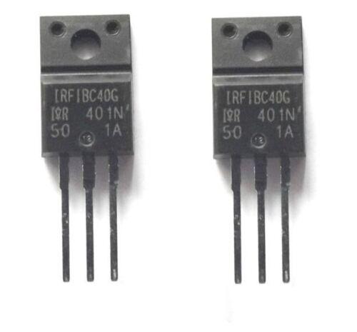 2pcs IRFIBC40G Trans MOSFET N-CH 600V 3.5A 3-Pin TO-220