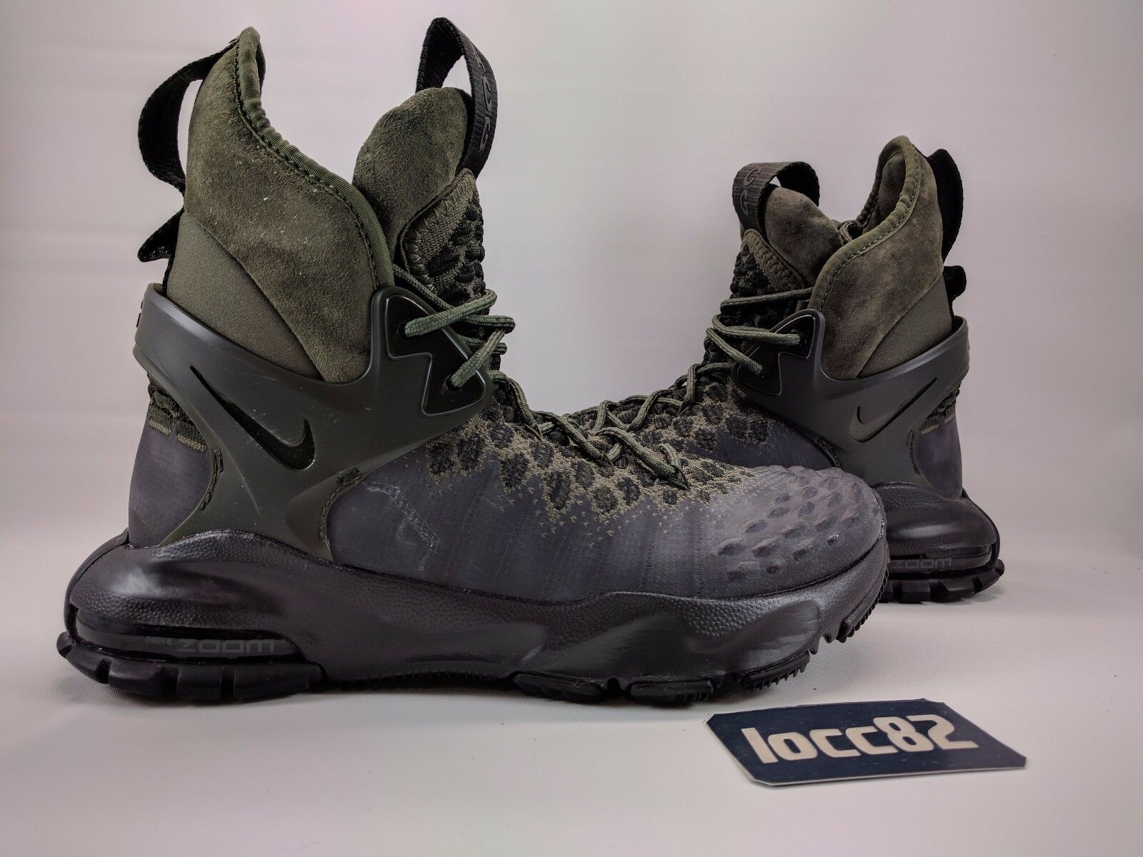 Nike Nikelab Zoom Tallac Flyknit ACG 6.5 8.5 865947 002 hiking trail women 8 10
