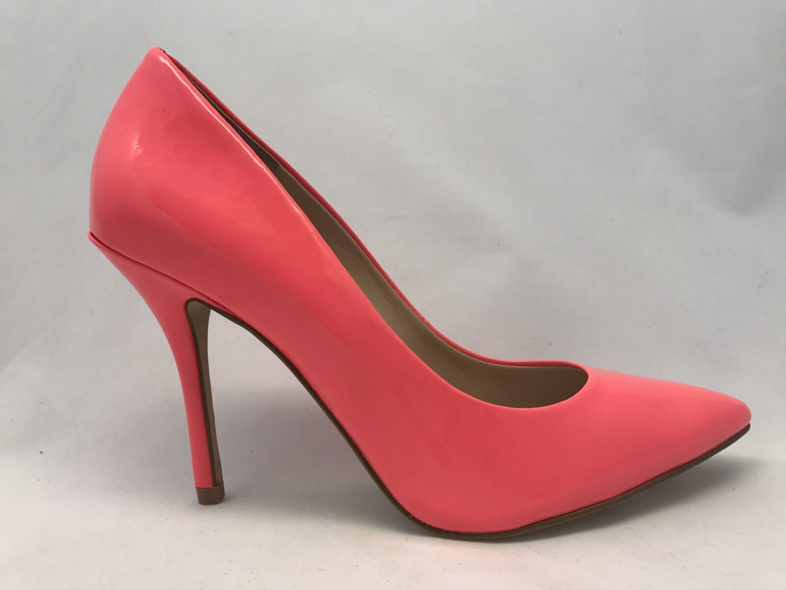 ENZO ANGIOLINI Persist Pump Heels, Dark Pink Patent Leather, MSRP $135, 7.5M