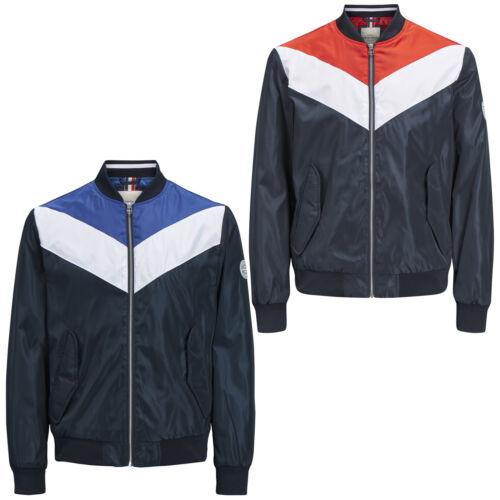 Jack /& Jones Originals Bomber Jacket Jorlouis Mens Colour Block Lightweight Coat