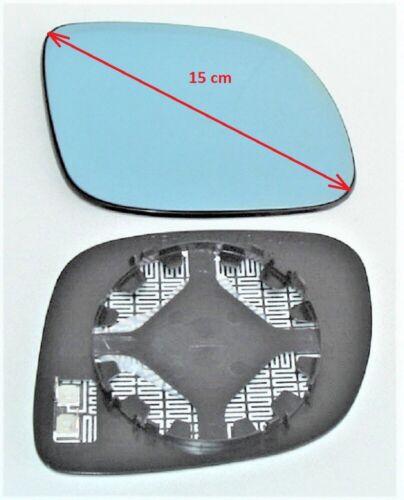 Spiegelglas rechts AUDI A6 01//97-09//99 für kleines Gehäuse blau konvex beheizbar