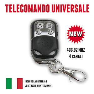 TELECOMANDO-UNIVERSALE-PER-CANCELLO-A-433-92-MHZ-RADIOCOMANDO-FAAC-CAME-NUOVO