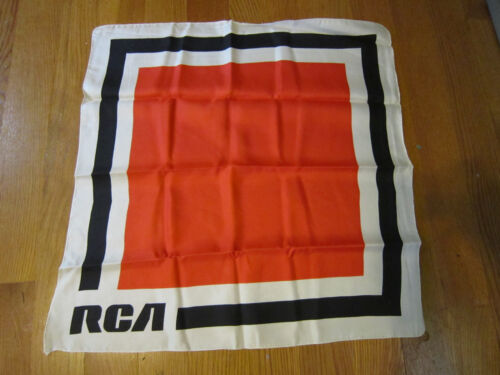 "Vintage RCA Woman/'s Scarf Advertising Promotional Never Used 22/"" x 24/"""
