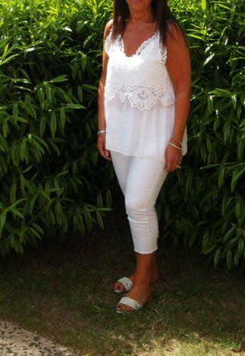 Womens Summer Crochet Tank Vest Blouse Ladies Sleeveless Cami Tops Plus Size