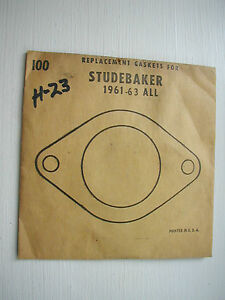 Vintage1961-64 Studebaker ALL Water Outlet Thermostat Housing Gasket