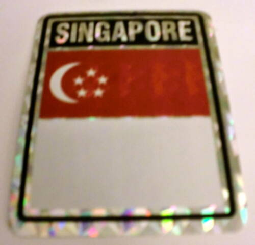 "Decal /""3x4/"" Singapore Stickers// Singapore Flag"