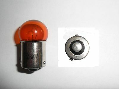 Set of 4 12v 10w Amber Bulbs BAU15S with offset pins