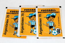 AMERICANA WM ARGENTINIEN 1978 Argentina 78, 3 x Tüte packet bustina (no Panini)