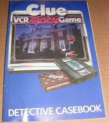 1985 Clue Vcr Mystery Game Instruction Manual Fabrieken En Mijnen