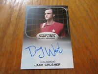 2017 Star Trek 50th Anniversary Doug Wert As Jack Crusher Autograph