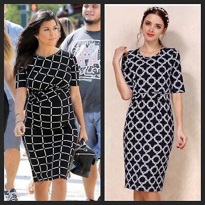 Nuovo Kardashian Nero Blu Maternity Allattamento Nursing Dress Size 8 10 12 14-mostra Il Titolo Originale Promuovere La Salute E Curare Le Malattie