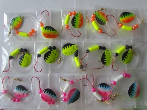 Pike Bass 30 Spinner Floater Rigs Leech Minnow Crawler Harness Walleye