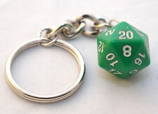 D20 Dice Green Keychain Dungeon and Dragons D&D RPG Twenty Sided Die