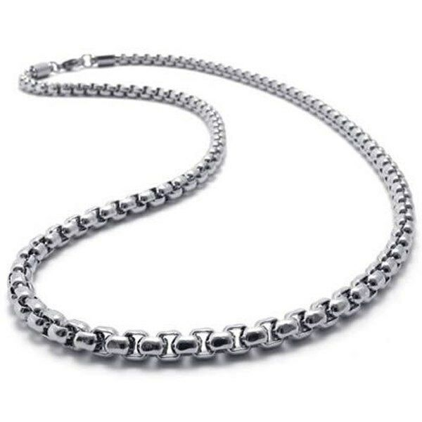 """MENS 2MM Silver 20"""" Stainless Steel Pearl Box Chain Necklace Fashion"""