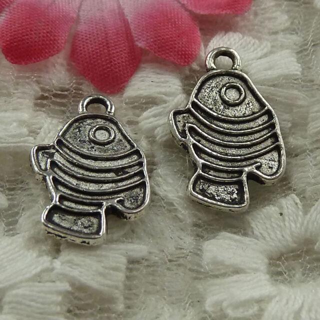 free ship 240 pieces tibetan silver cuttlefish charms 17x10mm #4037