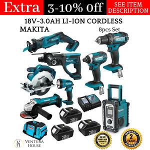 New Makita Multi Tool 18V 3.0Ah Li-Ion Power Tool Combo Tool Makita Cordless Set