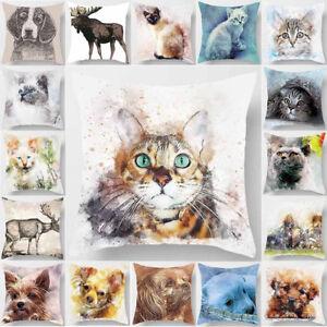 EG-18-039-039-VINTAGE-ANIMAL-CAT-THROW-PILLOW-CASE-HOME-SOFA-CUSHION-COVER-DECOR-STRI