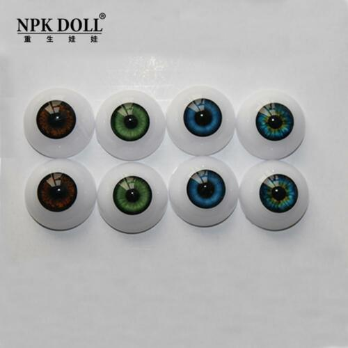 A variety of eye color 20mm Half Round Acrylic Reborn Baby Doll Eyes