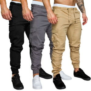 Sports-Mens-Casual-Pants-Long-Trousers-Sweatpants-Slacks-Casual-Pants