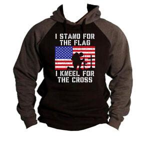 Men/'s We Are Q WWG1WGA Charcoal Raglan Hoodie Donald President Trump Military US