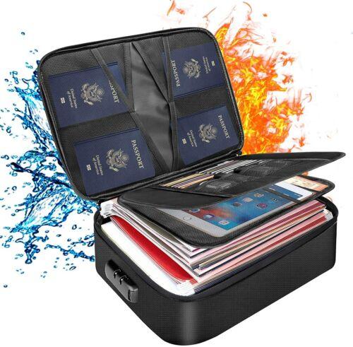 Fireproof Document Bag File Storage Case Document Safe Organizer Water-Resistant
