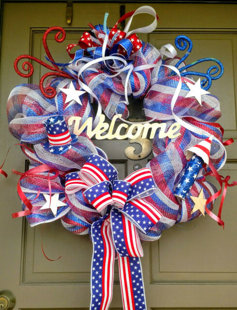 2x Patriotic 4th of July Decor Sign Welcome Sign /& You/'re a Grand Old Flag HL1