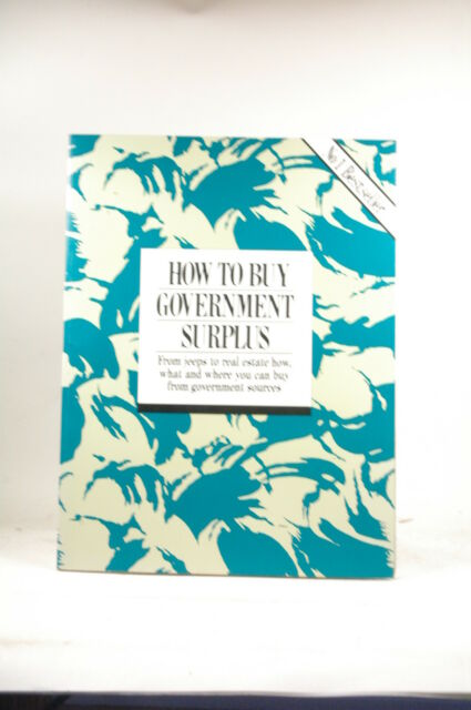 How to Buy Government Surplus - Anderson, John Broughton Hall Paperback Book