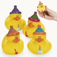 Birthday Party Rubber Ducks - 12 Count, New, Free Shipping