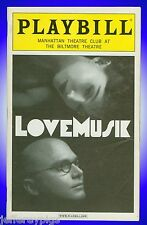 Playbill + Lovemusik + Michael Cerveris, Donna Murphy, David Pittu, Ann Morrison