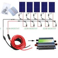 600w 500w 400w 300w 200w 100w Solar Kit To Build 12v Home Solar Panel System