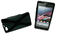 X-Rubber Silikon TPU Handy Cover Case Hülle Schwarz für Sony Xperia Z1 Compact