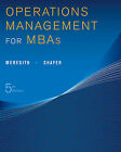 Operations Management for MBAs by Jack R Meredith, Scott M Shafer (Paperback / softback, 2012)