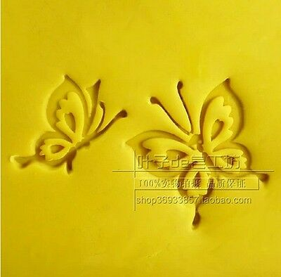 1pc Two Butterfly Handmade Leave Resin Soap Stamp Seal Soap Mold Mould YZ