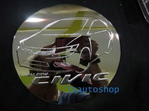 Chrome Fuel Oil Tank Cap Cover Fits Honda Civic Fb 4 Door Sedan 2013 2014 V.1