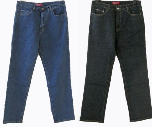 RE /& x JEANS Uomo Pantaloni Blu Nero Taglia 44 46 48 50 52 54 56 58 60 62 64