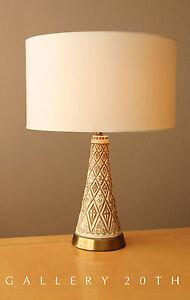 NICE-MID-CENTURY-MODERN-JO-WALLIS-TABLE-LAMP-VTG-50-039-S-60S-ATOMIC-CERAMIC-RETRO