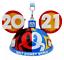 Disney World 2021 Mickey Ear Hat Christmas Ornament Minnie Donald Goofy NEW