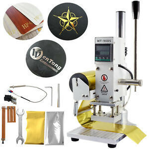 Leather-Hot-Foil-Stamping-Machine-5-7CM-PVC-Card-Embossing-Bronzing-Stamper-110V