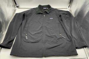 Women's Patagonia Full Zip Fleece Black Jacket - Size X Large