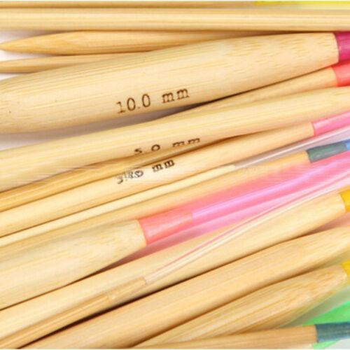 18 Pcs//Set Multi Size Circular Bamboo Knitting Needles Set 2.0mm-10.0mm
