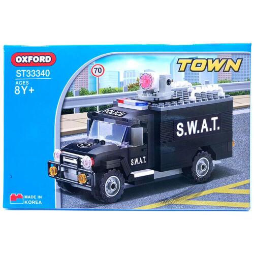 Oxford Block Town S.W.A.T Series Police VAN Assembly Kit Blocks ST33340