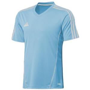 adidas-Climalite-Mens-Estro-Football-Training-Top-Jersey-T-Shirt-Gym-Sky-Blue