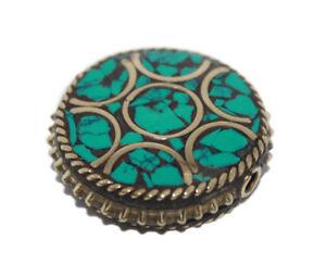 Nepalese-Beads-Handmade-Beads-Gypsy-Turquoise-beads-Tribal-beads-Tibetan-beads