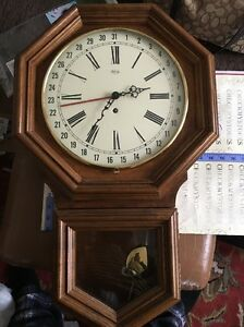 Vintage Ridgeway 31 Days Wall Clock West Germany 26 Quot Works