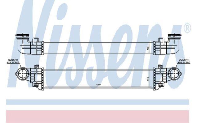 NISSENS Radiador de aire admisión MERCEDES-BENZ CLASE E 96785