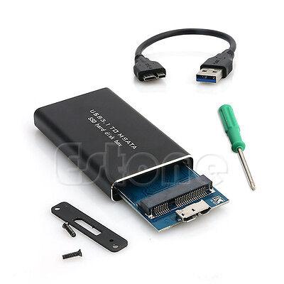 USB 3.1 to mSATA PCI-E SATA SSD Adapter Converter Enclosure Hard Disk Box New