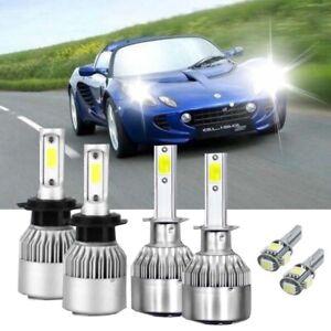 Lotus Elise S2 100w Clear Xenon HID High//Low//Fog//Side Headlight Bulbs Set