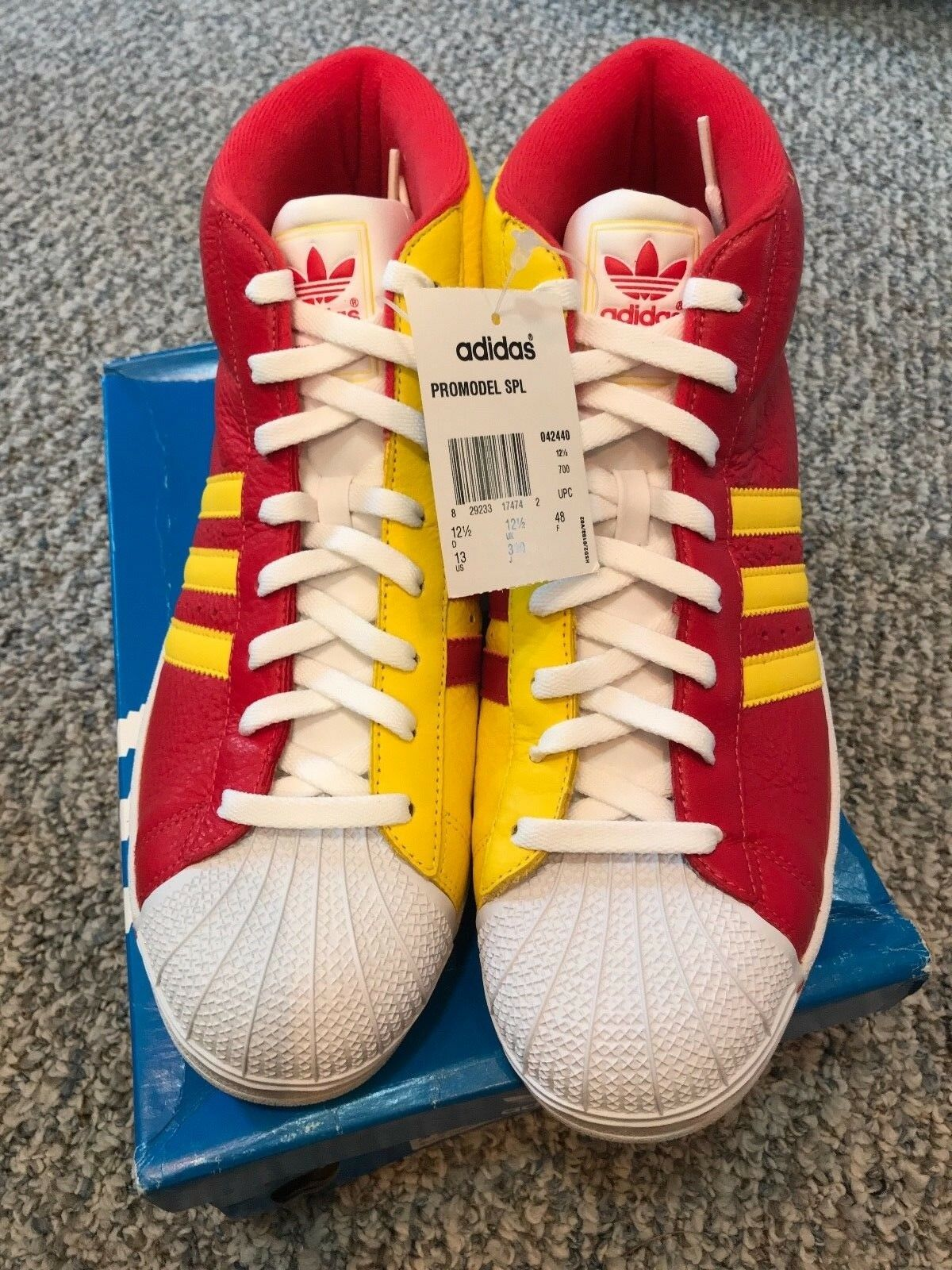 042440 Size Adidas ProModel SPL (Red/Yellow) Size 042440 13 c58ee9