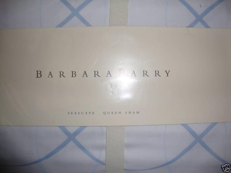 NEW BARBARA BARRY DREAM SEASCAPE blueeeE QUEEN PILLOW SHAM